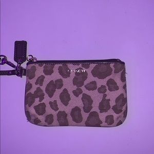 coach change purse cheetah print